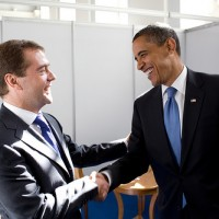 President Obama with Russia's President Medvedev