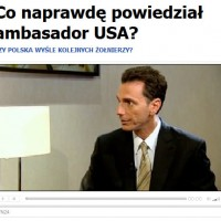 U.S. Ambassador to Poland Lee A. Feinstein being interviewed by TVN24.