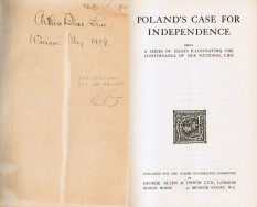 Book on Poland's Independence Belonging to Ambassador Arthur Bliss Lane