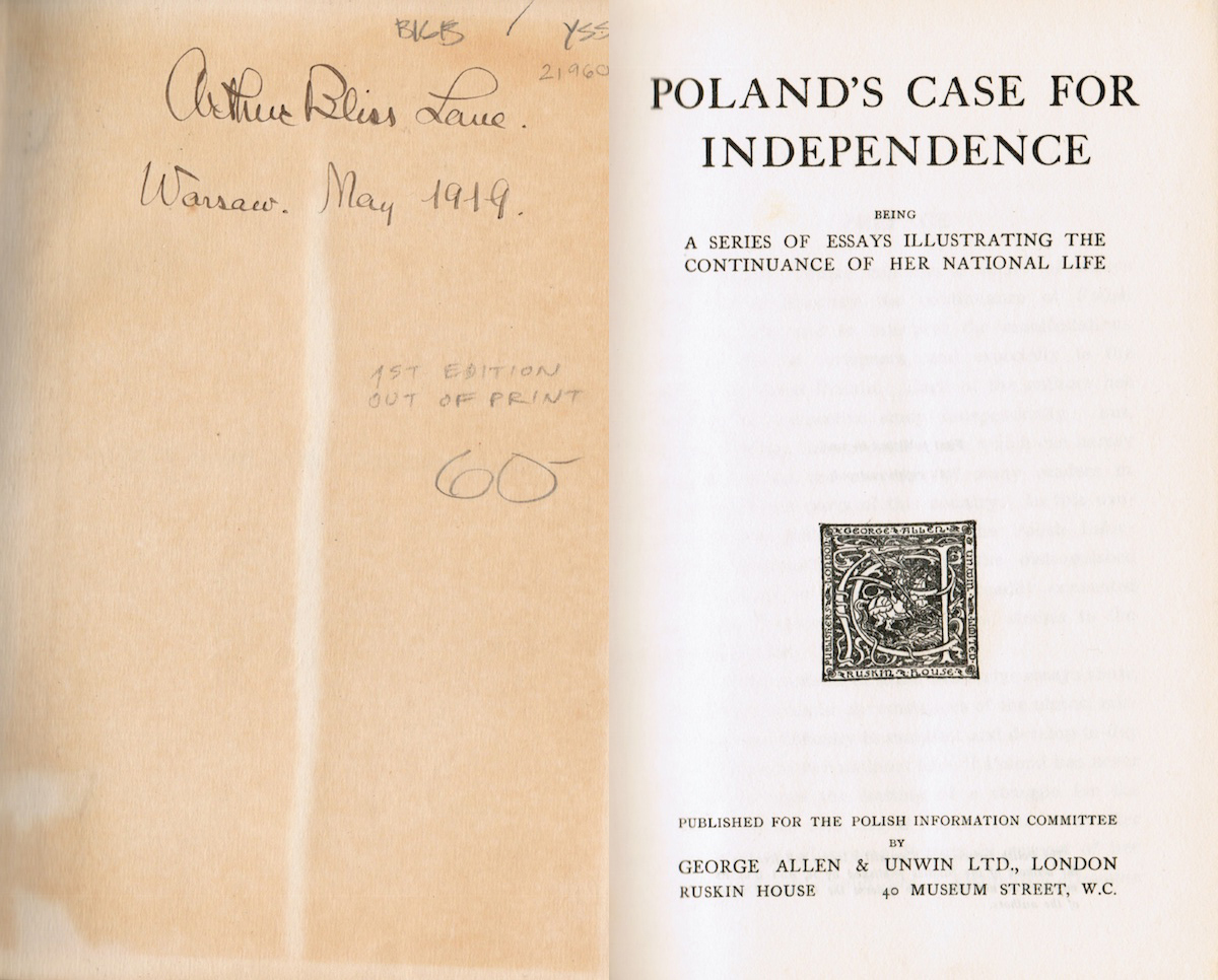Case For Poland's Independence-Arthur Bliss Lane