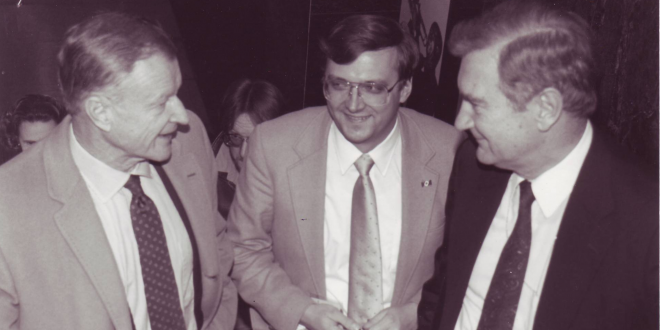 Zbigniew Brzezinski Interviewed for 1989 Worldnet Program on Historic Changes in Poland