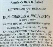 Wolverton Congressional Record 1944