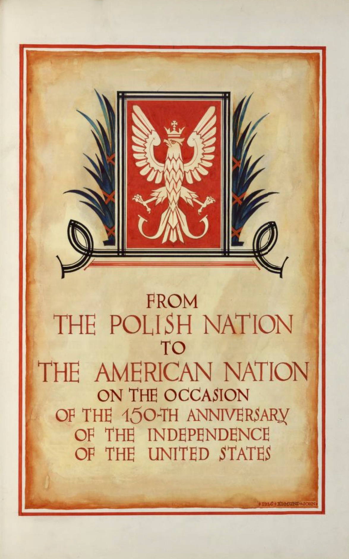 Image 5 of Polish Declarations of Admiration and Friendship for the United States: President of the Polish Republic and other officials and representatives of state and municipal institutions, social organizations, and religious bodies; Volume 1